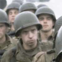PFC Delancey in Saving Private Ryan